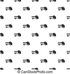 Toy truck pattern vector