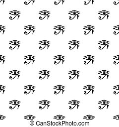 Eye of Horus Egypt Deity pattern vector - Eye of Horus Egypt...