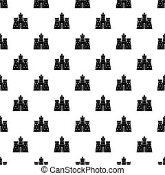 Ancient castle palace pattern vector