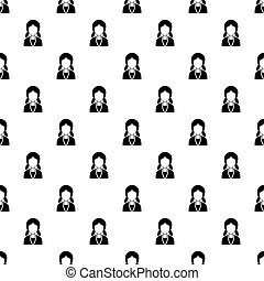 Girl with hairstyle pattern vector - Girl with hairstyle...