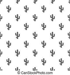 Cactus pattern vector - Cactus pattern seamless in simple...