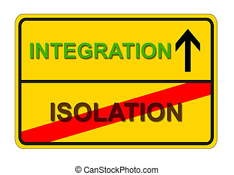 isolation integration - symbolic traffic sign from isolation...