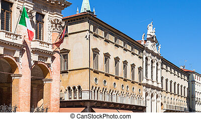 facade of palaces on Piazza dei Signori in Vicenza - travel...