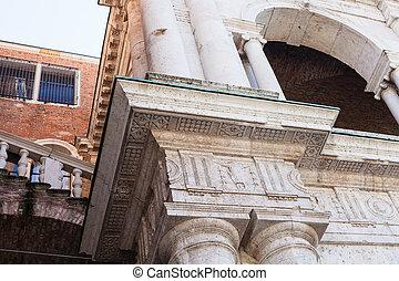 decor of loggia of Basilica Palladiana in Vicenza - travel...