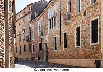 medieval palazzo on street contra porti in Vicenza - travel...