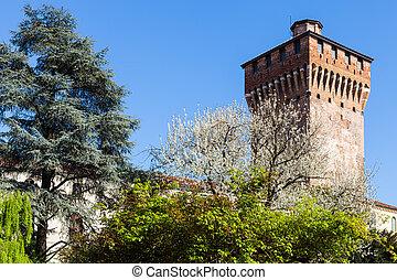 view Torre di Porta Castello in Vicenza in spring - travel...