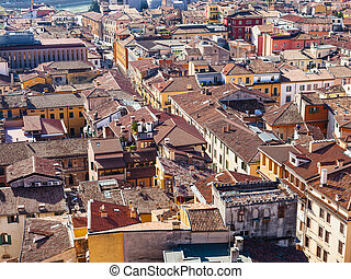 above view of Verona cityscape - travel to Italy - above...