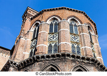 apse of Frari Church in Venice city - travel to Italy - apse...