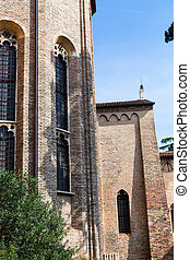 apse of Church of the Eremitani in Padua - travel to Italy -...