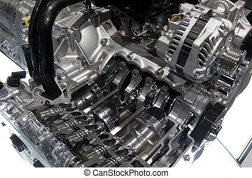 Cut Away - Car engine cut in half