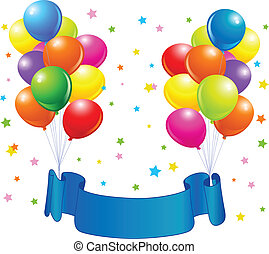 Birthday balloons design - Birthday design with balloons,...