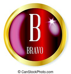 B For Bravo - B for Bravobutton from the NATO phonetic...