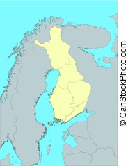 Vector map of Finland - High detailed vector map of Finland...