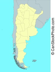 vector map of Argentina - High detailed vector map of...