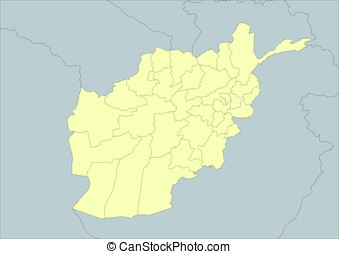 Vector map of Afghanistan - High detailed vector map of...