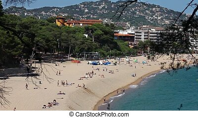 beach in summer resort city - aerial View of the beach in...