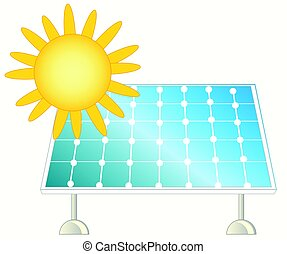 Sun and solar panel - Solar panel for collection of the...