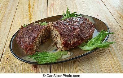 British Meatloaf Haslet . Lincolnshire cuisine