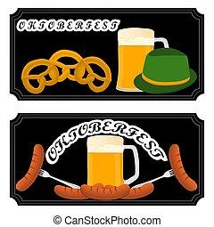 bar banner oktoberfest - Vector illustration logo for bar...
