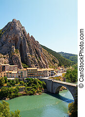 Sisteron charming medieval town in the province...