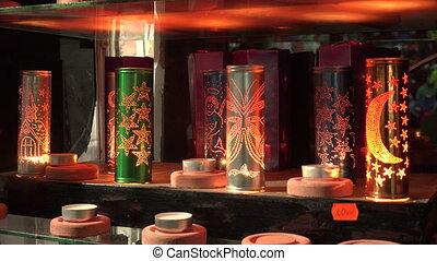 Souvenir candle. 4K. - Souvenir candle. Shot in 4K...