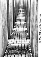Labyrinth from Holocaust memorial in Berlin, Germany....