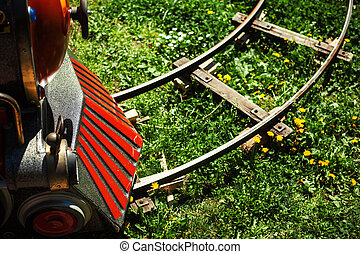 Train in Luna Park - Part of a train for small kids, details...