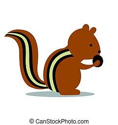 Vector Chipmunk - Vector Illustration of a Chipmunk