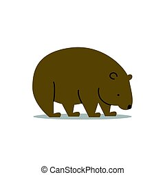 Vector Wombat - Vector Illustration of a Wombat