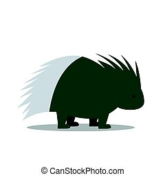 Vector Porcupine - Vector Illustration of a Porcupine