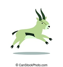 Vector Gazelle - Vector Illustration of a Gazelle
