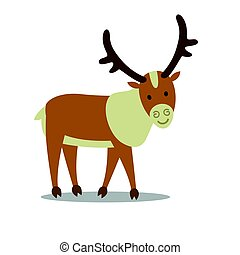 Vector Caribou - Vector Illustration of a Caribou