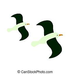 Vector Albatross - Vector Illustration of an Albatross