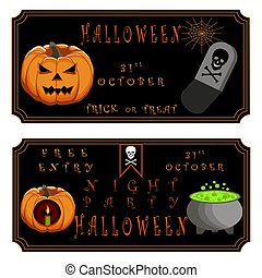 children's holiday halloween - Abstract vector illustration...
