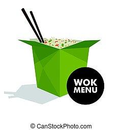 Vector Wok Food Design