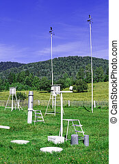 Old weather station in Gorny Altai - Russia Siberia. Old...