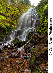 Fairy Falls in Columbia Gorge