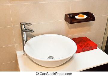 Modern bathroom - Modern style interior of a bathroom....