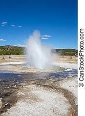 Geyser - Jewel geyser eruption in the Yellowstone national...