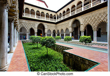 Real Alcazar in Seville, Andalusia - Real Alcazar in...