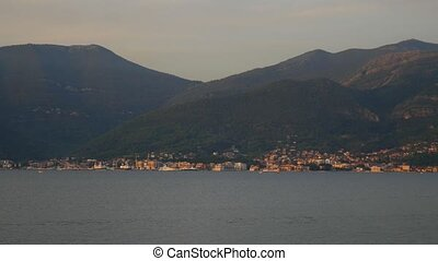 Tivat, the view from the peninsula Lustica. Bay of Kotor,...