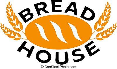 Bakery shop emblem, labels, logo and design elements.