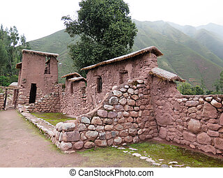 Ancient inca walls in Cusco Peru