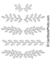 set of branches dividers - hand drawn dividers set of...