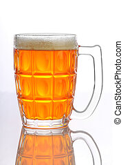 Beer Mug / Glass with froth isolated on white background