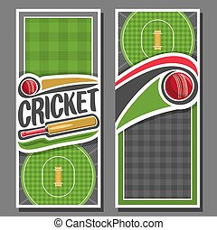 Vector vertical Banners for Cricket game: 2 layouts for...