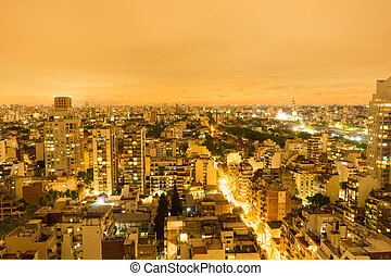The skyline of Buenos Aires in Argentina