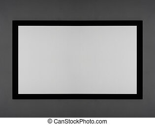 Projector screen white