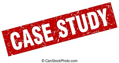 square grunge red case study stamp