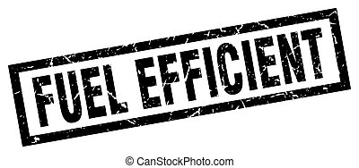 square grunge black fuel efficient stamp